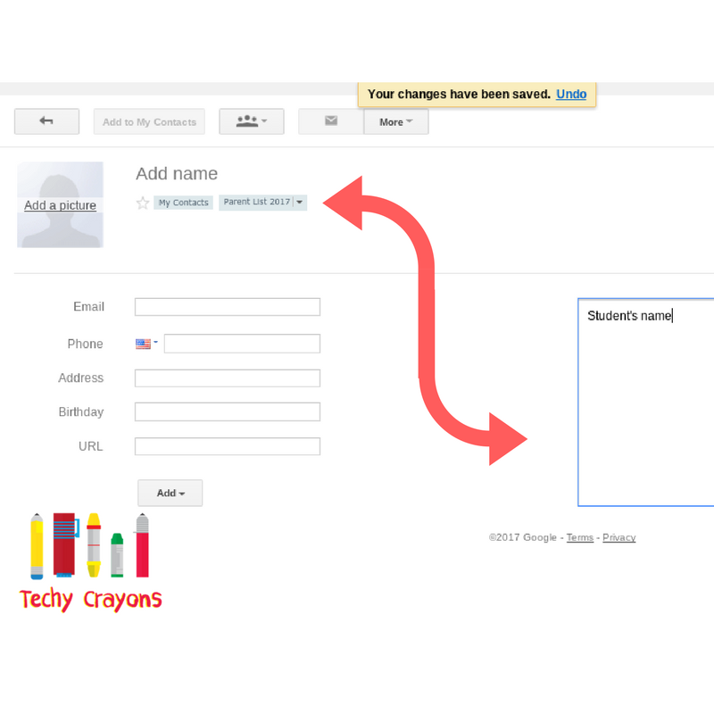 Google Contacts and Lists